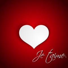 Je t'aime heart