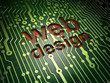 Web design SEO concept: circuit board with word Web Design