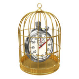 Birdcage with stopwatch inside