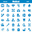 medical icons blue