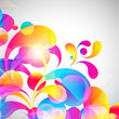 Card background. Abstract bright color drops and clean place