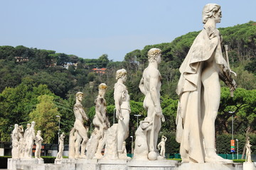 Marble statues in Rome, Italy
