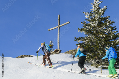 Ankunft am Gipfelkreuz