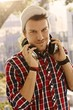 Modern young man with headphones