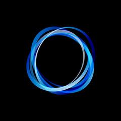 Blue Rings on black Background # Vector