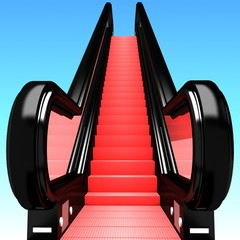 Escalator.Ladder of success concept