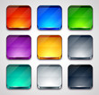 Multi colored glossy apps icons set