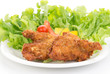 フライドチキンと野菜