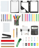 stationery set icons vector illustration