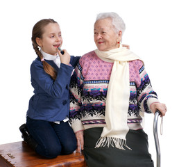 Grandmother with her granddaughter