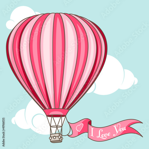 I Love You  hot air balloon