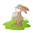 Vector Illustration of an Easter Bunny