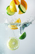 Lemon, lime and orange splash