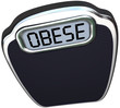 Obese Word Scale Overweight Heavy Weight Loss
