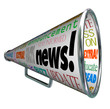 News Bullhorn Megaphone Important Alert Announcement
