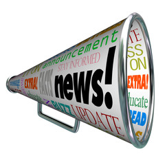 News Bullhorn Megaphone Important Alert Announcement