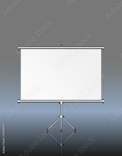 blank roll up display, roll up, silver screen, free copy space