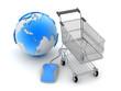 Internet shopping - concept illustration