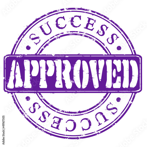 Stamp Approved success (violet)