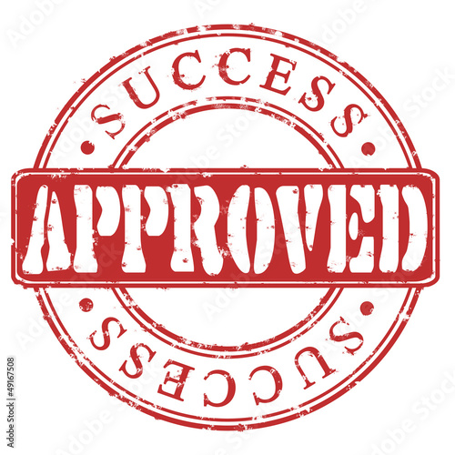 Stamp Approved success (red)