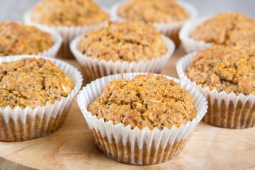 Homemade carrot muffins