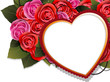 Valentine heart and rose bouquet