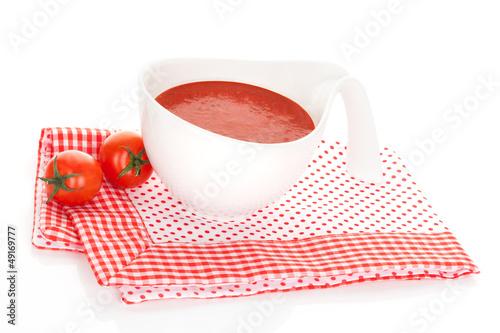 Delicious tomato soup.