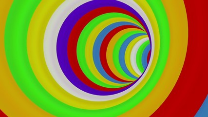 Colorful Long Round Tunnel - loop.
