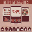 Retro Infographic Phone Design