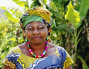 African woman in traditional clothing