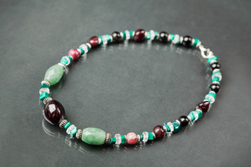 Handmade natural beads necklace