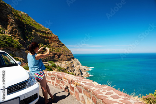 scenic viewpoint woman