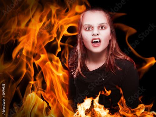 brennender Vampir