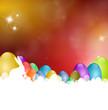 Osterkarte mit Eiern