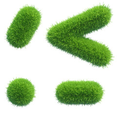 green grass punctuation