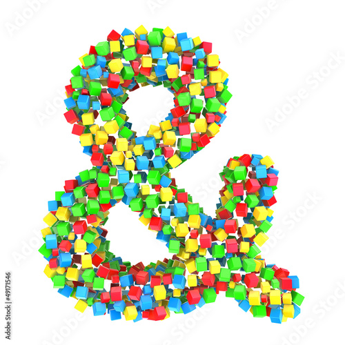 ampersand of colorful cubes