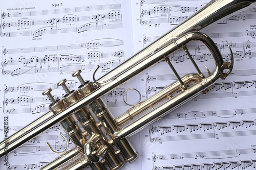 Trumpet on Sheet Music