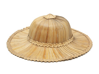 Old hat made from sugar palm leaf