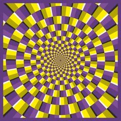 Optical illusion ellipse frame