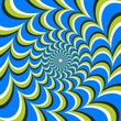 Optical illusion ellipse swirl