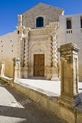 europe, italy, sicily, palazzolo baroque church