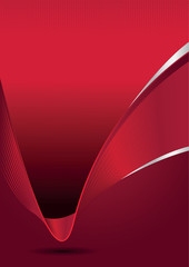 Vector abstract elegant red background