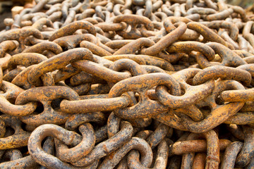 Rusty chain for mooring