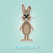 happy easter brown bunny