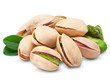 Pistachio nuts isolated + Clipping Path