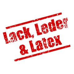 stempel eckig lack, leder & latex I