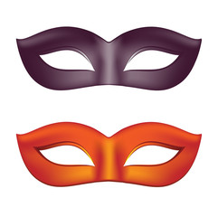 Carnival masks in black and red