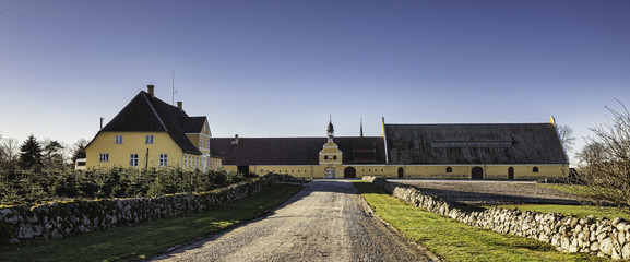 Brahetrolleborg castle west of Faaborg, Denmark