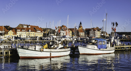Faaborg harbour in Denmark - 49176180