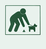 Sign requiring dog owners to pick up after pets poster